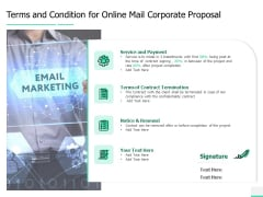Terms And Condition For Online Mail Corporate Proposal Ppt Gallery Layout Ideas PDF