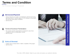 Terms And Condition For Process Change Proposal Ppt Powerpoint Presentation Show Design Ideas
