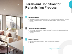 Terms And Condition For Refurnishing Proposal Ppt PowerPoint Presentation Ideas Designs