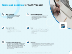Terms And Condition For SEO Proposal Ppt Styles Outline PDF