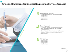 Terms And Conditions For Electrical Engineering Services Proposal Ppt Pictures Graphics Example PDF