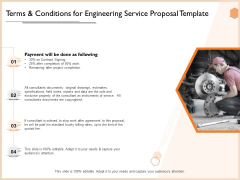 Terms And Conditions For Engineering Service Proposal Template Inspiration PDF