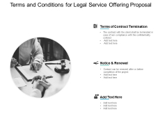 Terms And Conditions For Legal Service Offering Proposal Ppt PowerPoint Presentation Inspiration Portrait