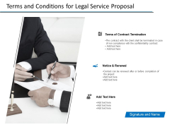 Terms And Conditions For Legal Service Proposal Ppt PowerPoint Presentation Model Example