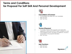 Terms And Conditions For Proposal For Soft Skill And Personal Development Infographics PDF