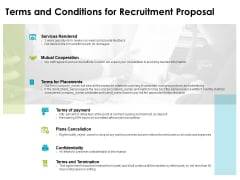 Terms And Conditions For Recruitment Proposal Ppt PowerPoint Presentation Model Graphics Tutorials