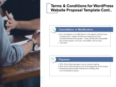 Terms And Conditions For Wordpress Website Proposal Template Cont Ppt PowerPoint Presentation Infographic Template Slides