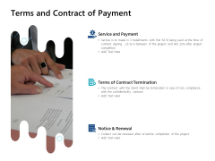 Terms And Contract Of Payment Ppt PowerPoint Presentation Infographics Picture