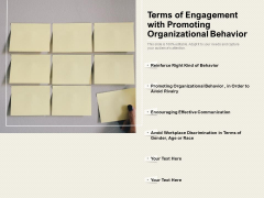 Terms Of Engagement With Promoting Organizational Behavior Ppt PowerPoint Presentation Show Themes PDF