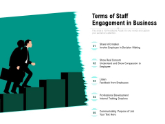 Terms Of Staff Engagement In Business Ppt PowerPoint Presentation Infographics Professional PDF