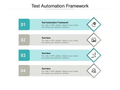 Test Automation Framework Ppt PowerPoint Presentation Summary Outline Cpb Pdf