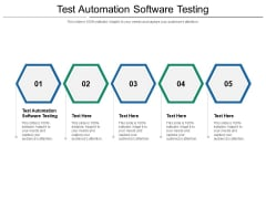 Test Automation Software Testing Ppt PowerPoint Presentation Model Graphics Cpb Pdf