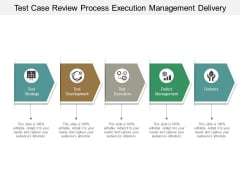 Test Case Review Process Execution Management Delivery Ppt PowerPoint Presentation Infographics Aids