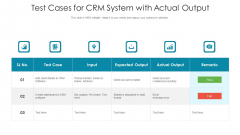 Test Cases For Crm System With Actual Output Ppt PowerPoint Presentation Summary File Formats PDF