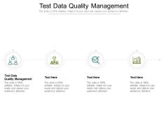 Test Data Quality Management Ppt PowerPoint Presentation Slides Deck Cpb Pdf