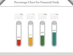 Test Tubes Percentage Chart For Financial Analysis Powerpoint Slides