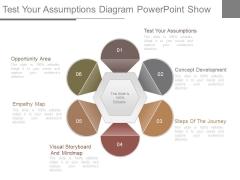 Test Your Assumptions Diagram Powerpoint Show