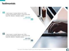 Testimonials Management Ppt PowerPoint Presentation File Themes