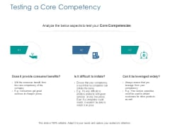 Testing A Core Competency Ppt PowerPoint Presentation Inspiration Skills