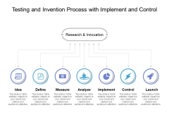 Testing And Invention Process With Implement And Control Ppt PowerPoint Presentation Pictures Objects PDF