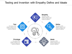Testing And Invention With Empathy Define And Ideate Ppt PowerPoint Presentation Summary Master Slide PDF