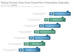Testing Process Flow Chart Powerpoint Presentation Examples