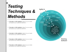 Testing Techniques And Methods Ppt PowerPoint Presentation Styles Designs