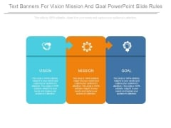 Text Banners For Vision Mission And Goal Powerpoint Slide Rules