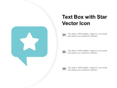 Text Box With Star Vector Icon Ppt PowerPoint Presentation Outline Layout