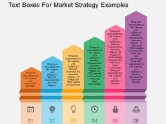 Text Boxes For Market Strategy Examples Powerpoint Template