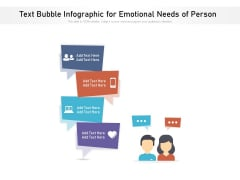 Text Bubble Infographic For Emotional Needs Of Person Ppt PowerPoint Presentation Gallery Styles PDF