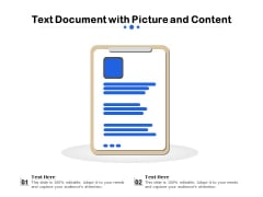 Text Document With Picture And Content Ppt PowerPoint Presentation File Diagrams PDF