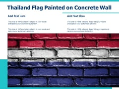 Thailand Flag Painted On Concrete Wall Ppt PowerPoint Presentation File Professional PDF