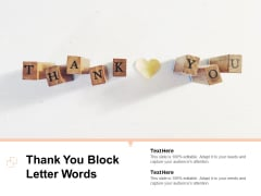 Thank You Block Letter Words Ppt Powerpoint Presentation Show Templates