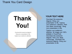 Thank You Card Design Powerpoint Template