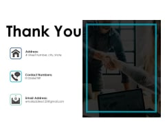 Thank You Financial Projection Ppt PowerPoint Presentation Show Good