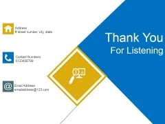 Thank You For Listening Ppt PowerPoint Presentation Files