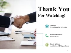 Thank You For Watching Ppt PowerPoint Presentation Professional Design Templates