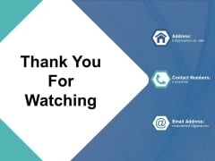 Thank You For Watching Rpa Ppt PowerPoint Presentation Professional Shapes