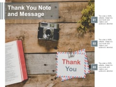 Thank You Note And Message Ppt Powerpoint Presentation Styles Model