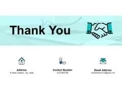 Thank You Risk And Return In Financial Management Ppt PowerPoint Presentation Professional Good