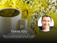 Thank You Slide With Floral Background Powerpoint Slides