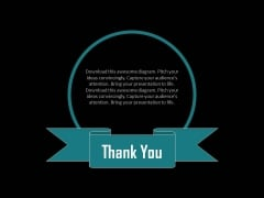 Thank You Text Slide For Business Powerpoint Slides