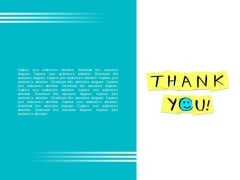 Thank You Text With Smiley PowerPoint Slides