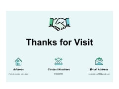 Thanks For Visit Ppt PowerPoint Presentation Icon Professional