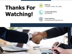 Thanks For Watching Autonomation Ppt PowerPoint Presentation Portfolio Slide