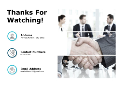 Thanks For Watching Business Performance Evaluation Ppt PowerPoint Presentation File Example Topics