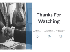 Thanks For Watching Fixed Investment Analysis Ppt PowerPoint Presentation Infographic Template Show