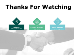 Thanks For Watching Intelligent Automation Ppt PowerPoint Presentation Inspiration Rules