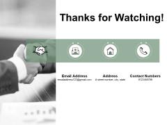 Thanks For Watching Lean Waste Management Ppt PowerPoint Presentation Portfolio Skills